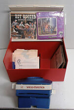 Lighted View-Maser with 20 Misc Viewmaster Reels of Westerns in Storage Case