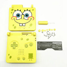 GBA SP Game Boy Advance SP Replacement Housing Shell Screen Lens Spongebob