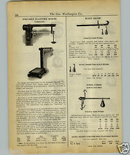 1927 PAPER AD Fairbanks Portable Platform Scale Warehouse Type Beam Steel Yard
