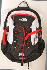The North Face Borealis Black Red White Backpack Travel Pack Hiking Camping Day