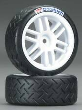 NEW Traxxas Tires/Wheels Assembled/Glued Soft Rally (2) 7372R