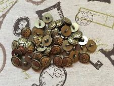50 Metal Buttons Gold Shank 15mm Blazer Cardigan job lot Arts & Crafts (218)