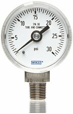 WIKA Industrial Copper Alloy Liquid Pressure Gauge - Part # 9693705
