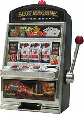 SMALL SLOT MACHINE Piggy bank savings toy money game tokens pokies Gambling gift