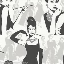 Audrey Hepburn Tapete - Papier schwarz weiß Young Spirit Design P+S 05600-10