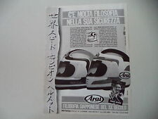 advertising Pubblicità 1987 CASCO HELMETS ARAI e FREDDIE SPENCER