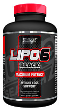 Nutrex Lipo 6 Black 120 Liquid Capsules - Fat Burner - Maximum Potency