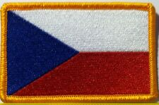 CZECH REPUBLIC Flag Patch with VELCRO® brand fastener Military Emblem