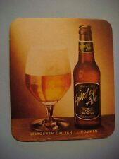 Old Beer Coaster ~*~ (Formerly) Brewery MARTINAS Ginder Ale ~ Merchtem, BELGIUM