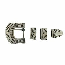Hopi Sterling Silver Belt Buckle Ranger Set