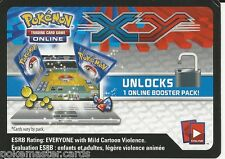 Pokemon XY Online Game Code: XY Set Booster Pack Unused Code!