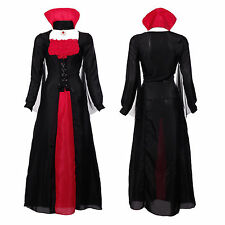 Ladies Vampiress Bride Of Dracula Halloween Outfit Fancy Dress Costume Vampire