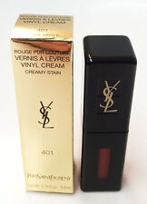 Yves Saint Laurent YSL ROUGE PUR COUTURE VINYL CREAM 401 Rouge Vinyle