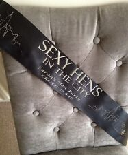 Sex Hens In The City Personalised Bride To Be Hen Party Sash Sex And The City