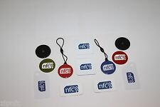 Due zipnfc di ciascun Misto NFC TAG ADESIVO Set Windows ANDROID HTC SAMSUNG NOKIA