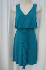 Jessica Simpson Dress Sz 4 Teal Tidepool Sleeveless Casual Business Cocktail