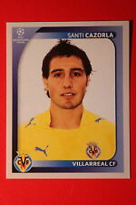 PANINI CHAMPIONS LEAGUE 2008/09 # 531 VILLAREAL CF CAZORLA BLACK BACK MINT!