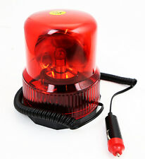 12V Beacon Light Red Automatic Revolving Strobe Rotate Warning Caution Security