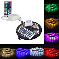 5M 5050SMD RGB 300 LED resistente al agua flexible Barra de luz + 44Key
