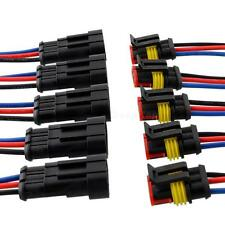 5pc 3 line 3 Pin Way Car Waterproof Electrical Connector Plug With Wire AWG K0TG