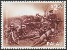 WWI 1914 British Army Recruits (Bicycle Infantry) Battle Training Exercise Stamp