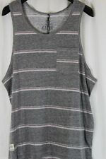 MENS KATIN HEATHER GRAY W CORAL STRIPES TANK TOP SLEEVELESS SIZE L NEW W TAG $31