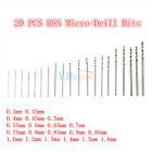 20 pcs Mini HSS High Speed Steel Twist Drill Bit Set Tool Craft 0.3-1.6mm
