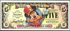 "2008  Disney Dollar $5   ""A""  Disneyland  crisp MINT"