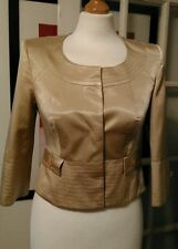 Stunning Karen Millen gold satin like jacket. Size 8. Unworn.