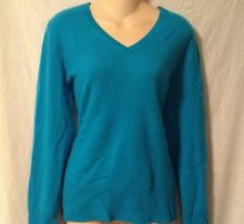 TURQUOISE 100% CASHMERE SWEATER BY: APT 9 FROM KOHLS-SZ LG- NWTGS- RET $100