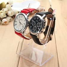 2pcs Clear Plastic Watch Bracelet Jewelry Showcase Display Stand Holder Rack HOT