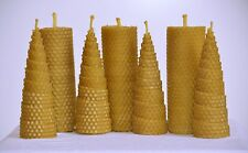 HANDMADE 100% ORGANIC BEESWAX CANDLES * SET OF 7 CANDLES *