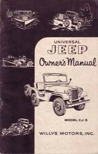1954 Jeep CJ-5 Owners Manual User Guide Reference Operator Book Fuses Fluids OEM