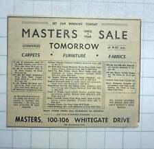 1951 Masters Carpets, Furniture, Fabrics Whitegate Drive Blackpool