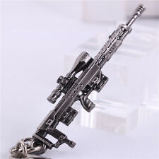 6.5CM Cross Fire Sniper Rifle Keychain Mini Metal Military Weapon Model KeyRing