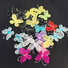 50pcs Wired Mesh Stocking Butterfly with Glitter Wedding Craft Embellishment DIY