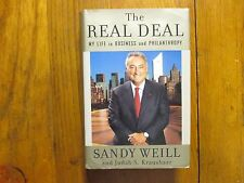 """SANDY  WEILL   Signed  Book (""""THE  REAL  DEAL""""-2006  First   Edition   Hardback)"""