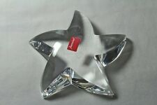 Baccarat PUIFFED STAR Paperweight or Figurine, double marked and has sticker