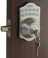 Lockey Keyless Electronic Door Lock Deadbolt SN Touchpad Code Remote CAPABLE