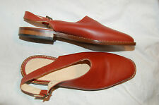 NWOB Gap Brown Leather Slingbacks Shoes Made in Italy Size 6B