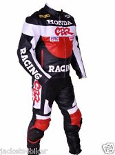 HONDA CBR RACING SUIT MOTORCYCLE LEATHER SUIT MOTORBIKE LEATHER JACKET TROUSER