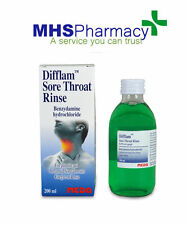Difflam Oral Rinse 200ml Sore throat Oral Pain Mouth Ulcers Anti-inflammatory