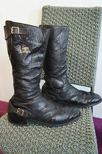 Vintage LEWIS leathers biker bottes taille 11 made in england