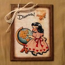 5 WOODEN Handcrafted SCHOOL Ornaments,HangTags GREAT GIFT FOR TEACHER SetHh