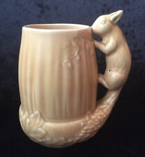 Vintage SylvaC  #1195 - Squirrel & Acorn Vase In Pink. 7""