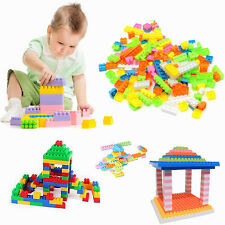 144Pcs Children Kid Plastic Puzzle Educational Building Block Bricks Animal Toy