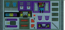 TRANSFORMERS GENERATION 1, G1 DECEPTICON SNAPDRAGON REPRO LABELS / STICKERS