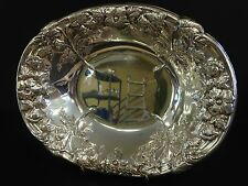Sheffield Silver Plate Oval Bowl/Tray 10.75 X 8.5 X 1.75 inches Floral