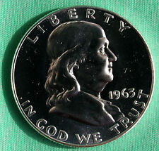 1963 Franklin Silver Proof Half Dollar Coin Fifty Cent MADE IN AMERICA COIN