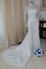 DA VINCI WEDDING GOWN~WHITE~EMBROIDERY~PEARLS~NWOT~STUNNINGLY GORGEOUS~SIZE 10